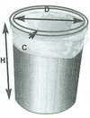 Poly Bags round container